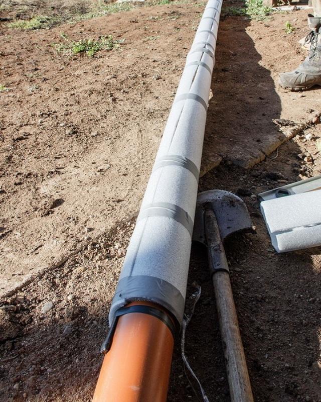 Как проложить греющий кабель для канализации?
