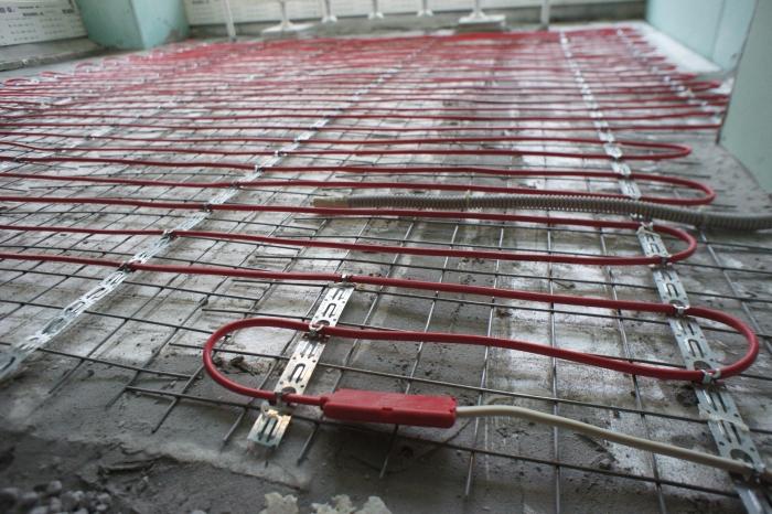 Требования при укладке кабеля теплого пола