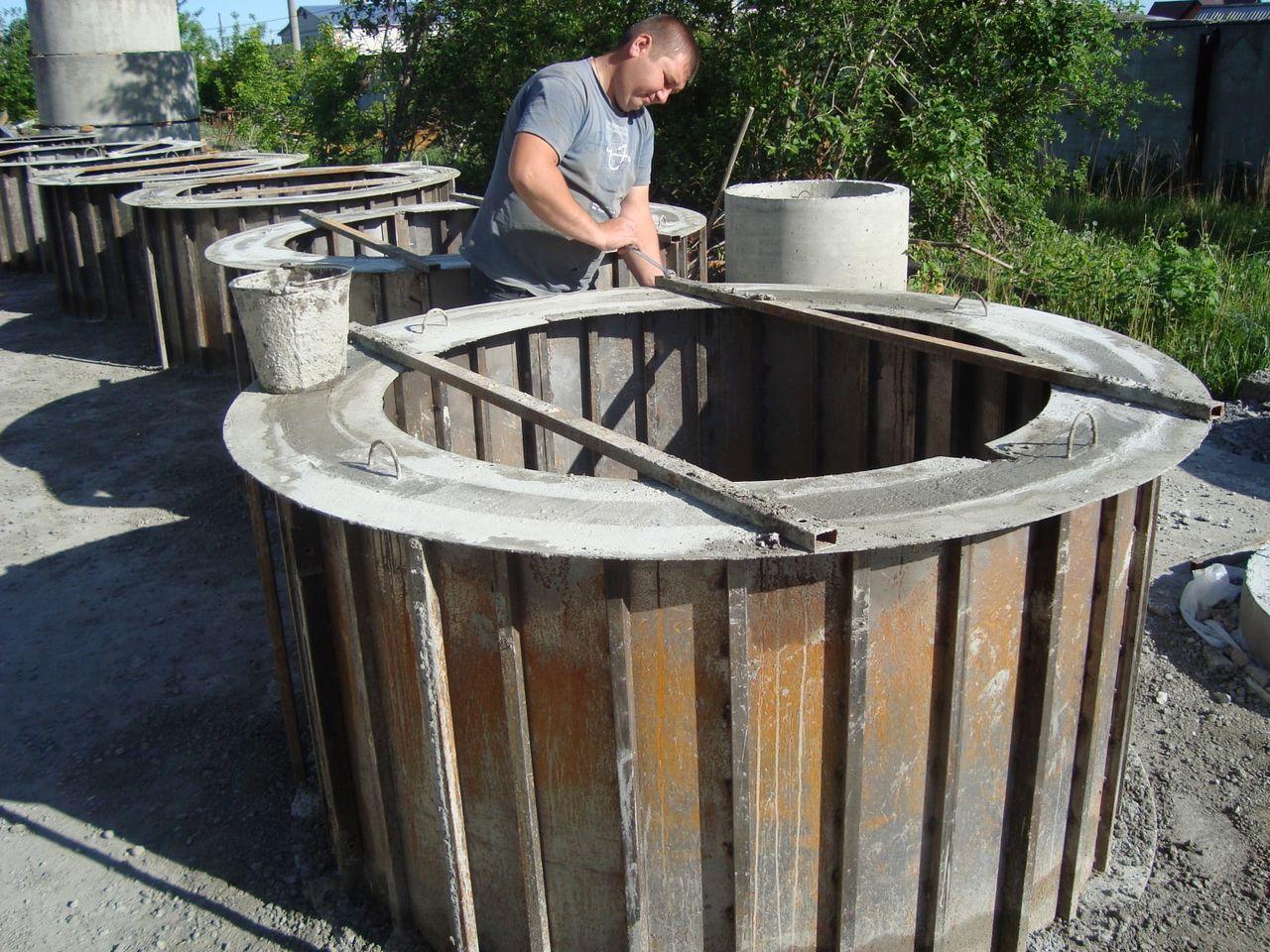 Как самостоятельно сделать канализационные кольца?